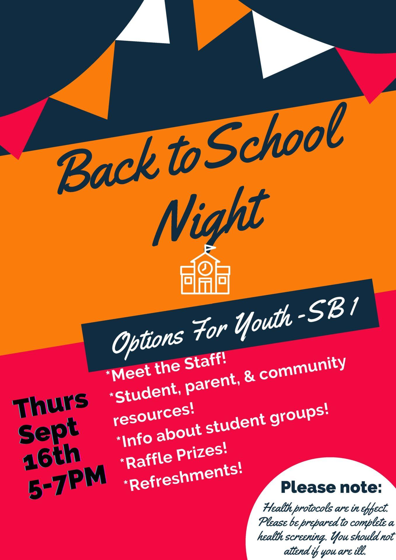 Back to School Night @ SB1   San Bernardino   California   United States